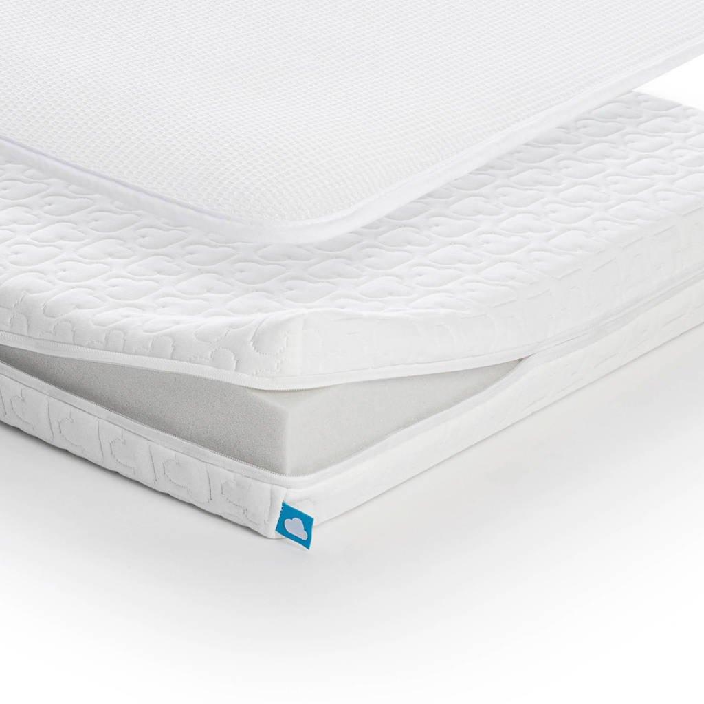 AeroSleep ® Essential Pack 2-in-1 : Matras + 3D Beschermer (60x120 cm), Wit
