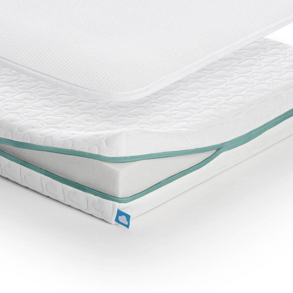 AeroSleep ® ECOlution Pack 2-in-1 : Matras + 3D Beschermer (70x150 cm), Wit