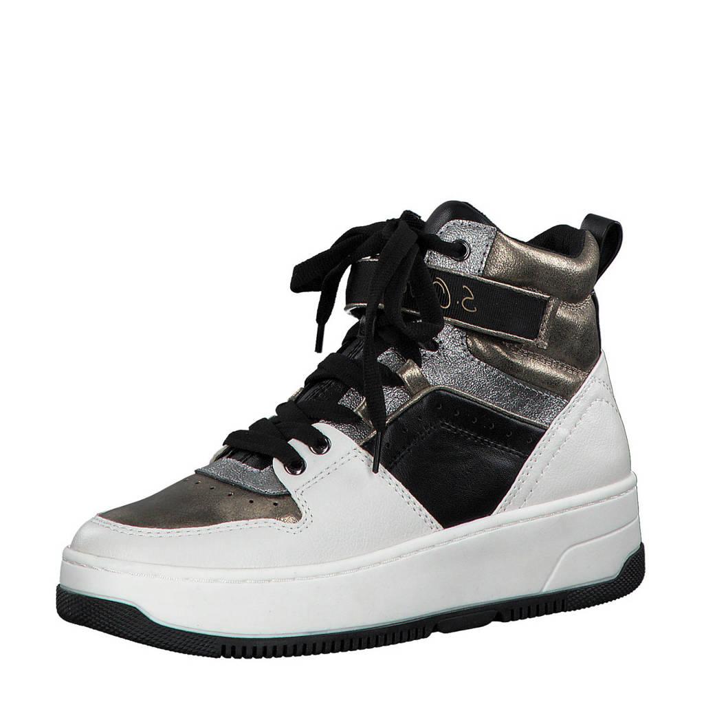 s.Oliver   hoge sneakers wit/goud, Wit/goud