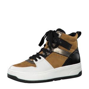 sneakers okergeel/zwart/wit