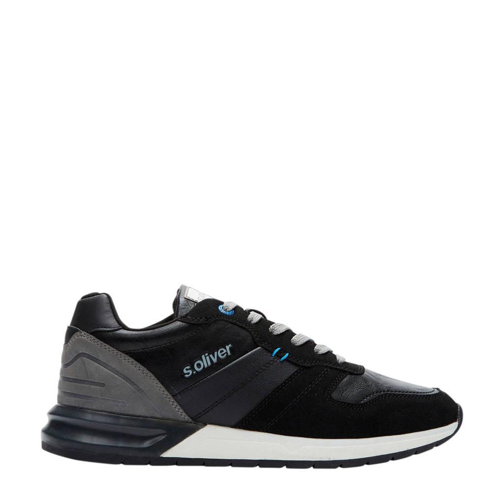 s.Oliver   sneakers zwart, Zwart