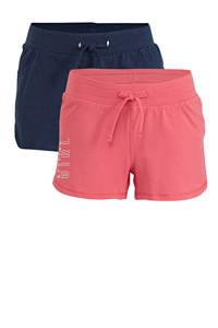 C&A Here & There sweatshort - set van 2 roze/blauw, Roze/blauw