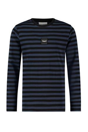 gestreepte longsleeve T-shirt Ballin blauw