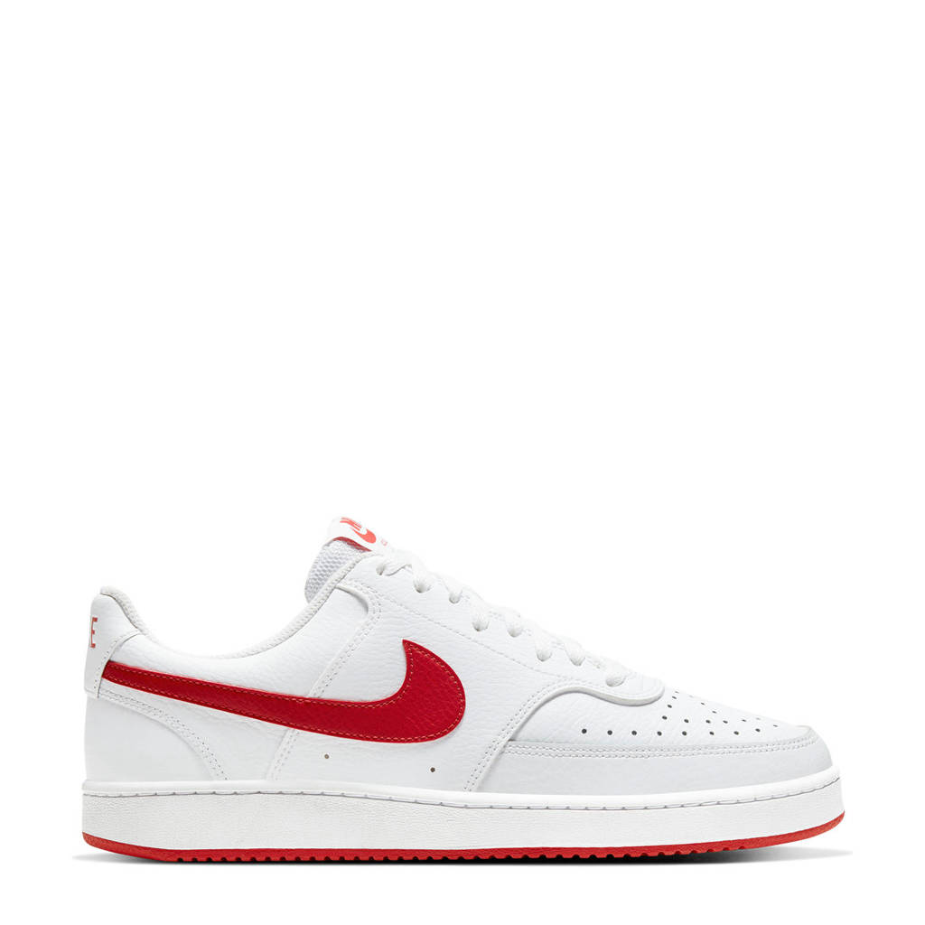 Nike Court Vision sneakers wit/rood, Wit/rood