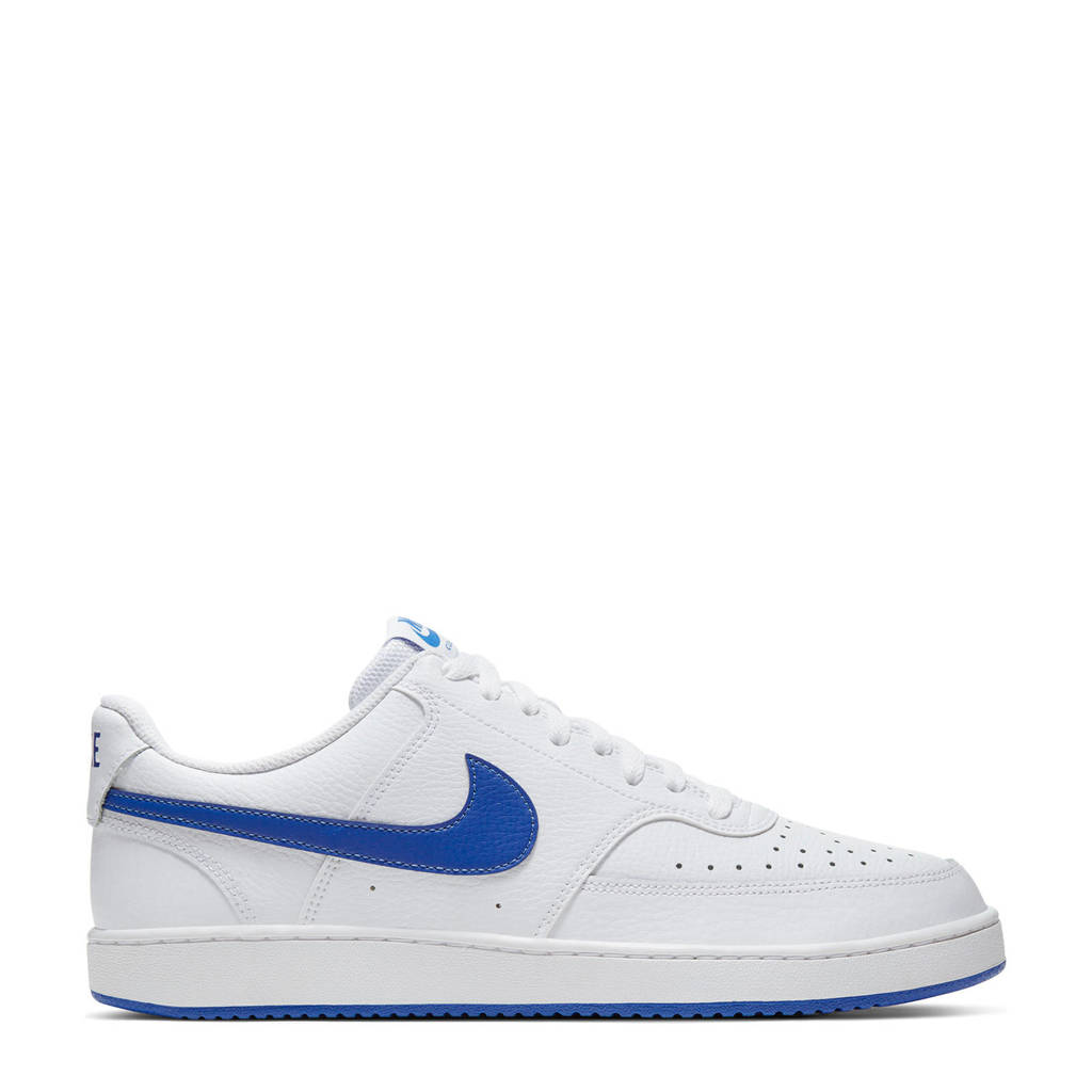 Nike Court Vision sneakers wit/kobaltblauw, Wit/kobaltblauw