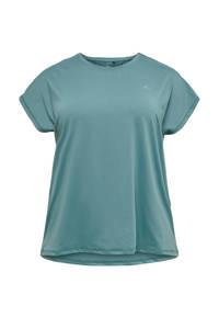 Only Play Curvy sport T-shirt blauw, Blauw