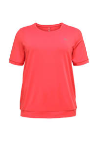 ONLY PLAY Plus Size sport T-shirt koraalrood, Koraalrood