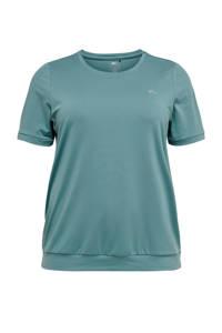 ONLY PLAY Plus Size sport T-shirt blauw, Blauw