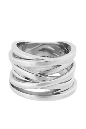 ring Coil zilverkleurig