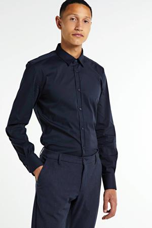 super slim fit overhemd donkerblauw