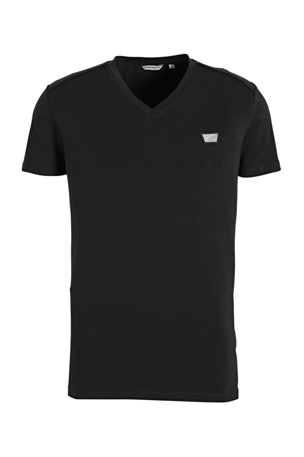 Antony Morato T-shirt zwart, Zwart