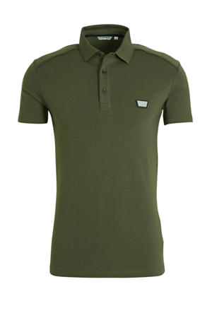 slim fit polo olijfgroen