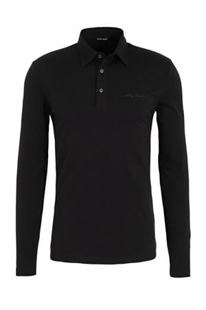 regular fit polo zwart