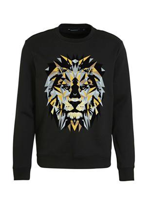 sweater met printopdruk zwart