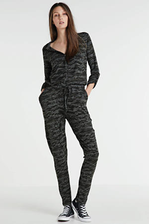 jumpsuit met all-over print zwart