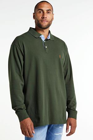 +size regular fit polo donkergroen