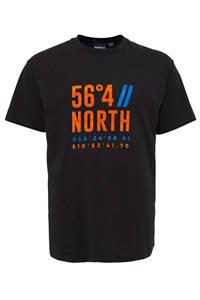 North 56°4 +size T-shirt met printopdruk zwart, Zwart