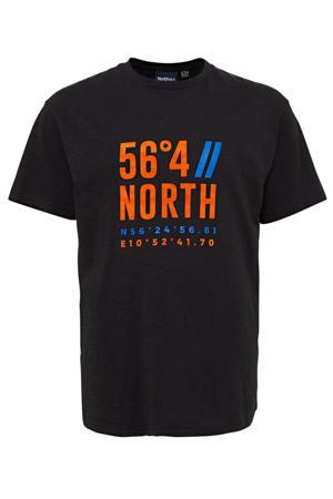 +size T-shirt met printopdruk zwart