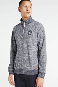 New Zealand Auckland gemêleerde sweater donkerblauw, Donkerblauw
