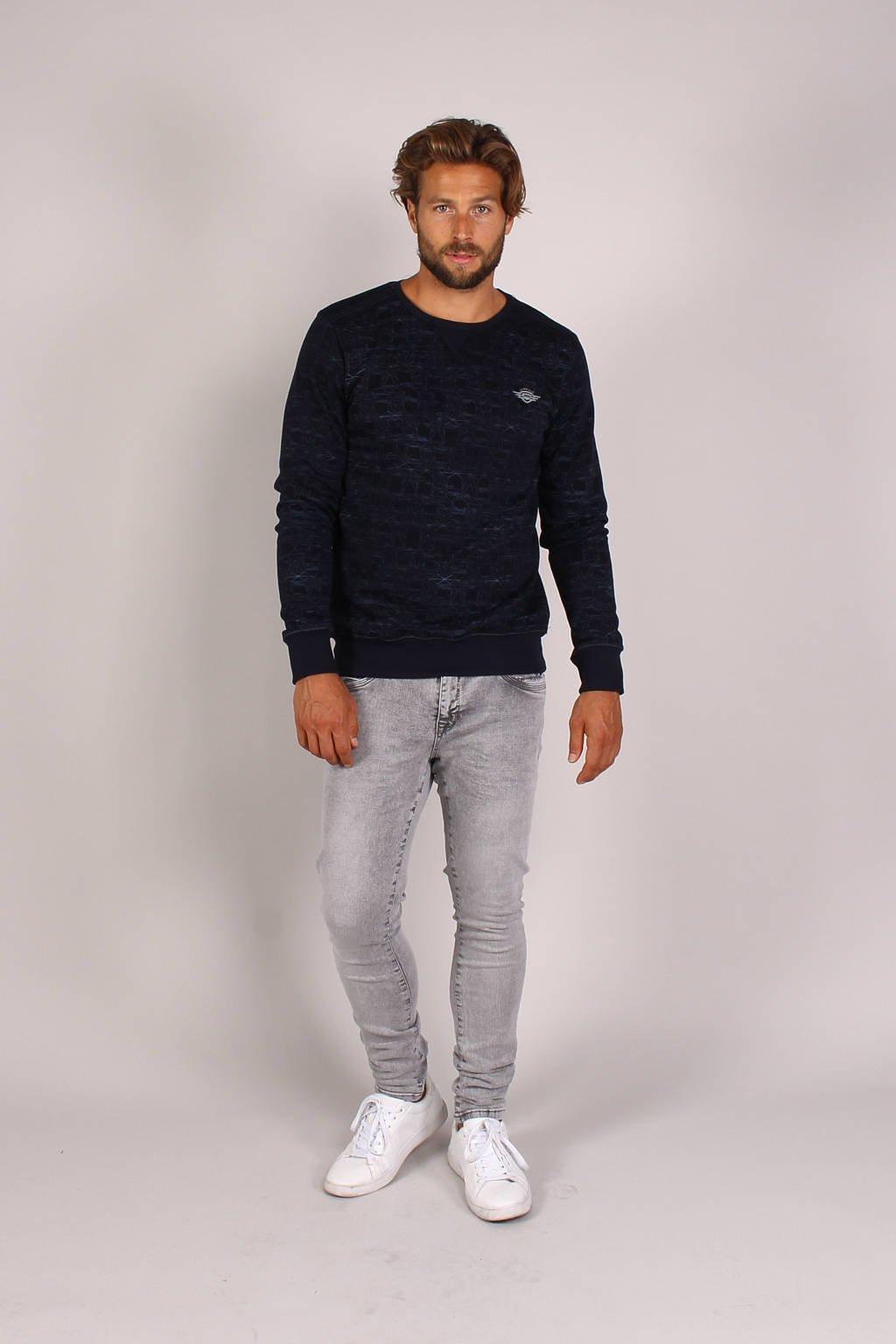 GABBIANO gemêleerde sweater donkerblauw, Donkerblauw