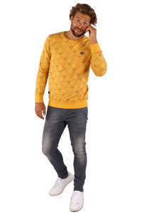 GABBIANO sweater met all over print geel, Geel