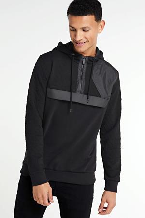 hoodie met textuur zwart