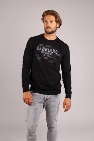 sweater met logo zwart