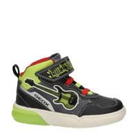 Geox Gray Boy  hoge sneakers zwart/groen, Zwart