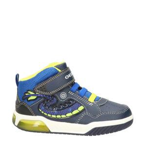 Inek  hoge sneakers met lichtjes blauw