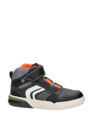 Grayjay  hoge sneakers met lichtjes zwart/oranje
