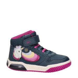 Inek  hoge sneakers met lichtjes blauw/roze