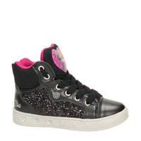 Geox Skylin Frozen  hoge sneakers met lichtjes zwart/roze, Zwart/roze