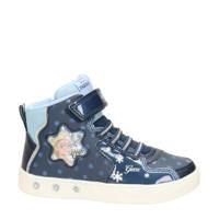 Geox Skylin Frozen hoge sneakers met lichtjes blauw, Blauw