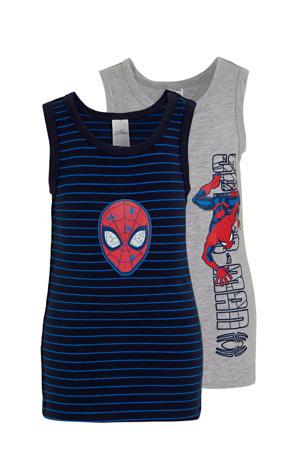 hemd Spiderman - set van 2 grijs melange/donkerblauw