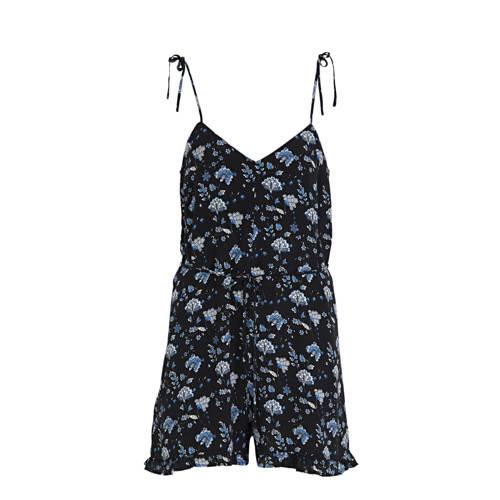 Mango gebloemde jumpsuit donkerblauw/ blauw kopen