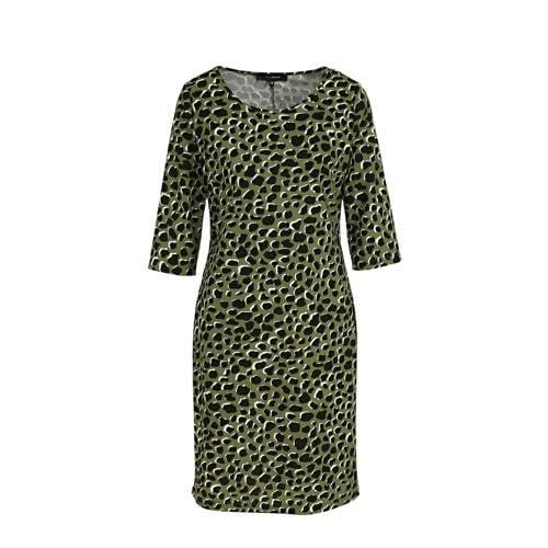 anytime jurk panterprint groen