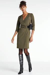 anytime wikkel-look jurk donkergroen, Donkergroen