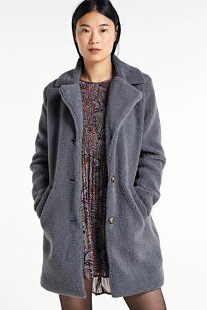 coat DOFI-LONG1 blauwgrijs
