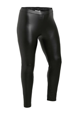 imitatieleren legging Alene zwart