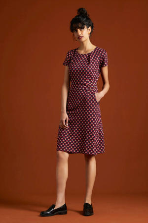 jurk Mona Pose met all over print grape red - 612