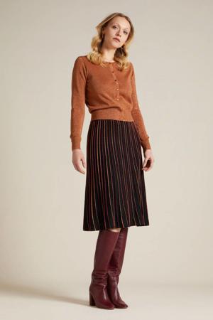 A-lijn rok Pintuck Lapis met glitters zwart/rood/oranje