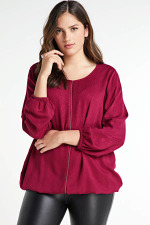 blouse 6032 - fresh wine red