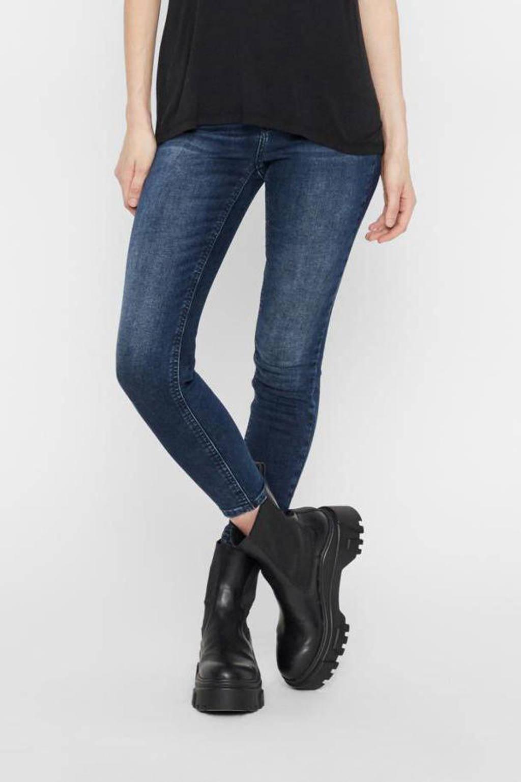 PIECES skinny jeans PCDELLY donkerblauw, Donkerblauw