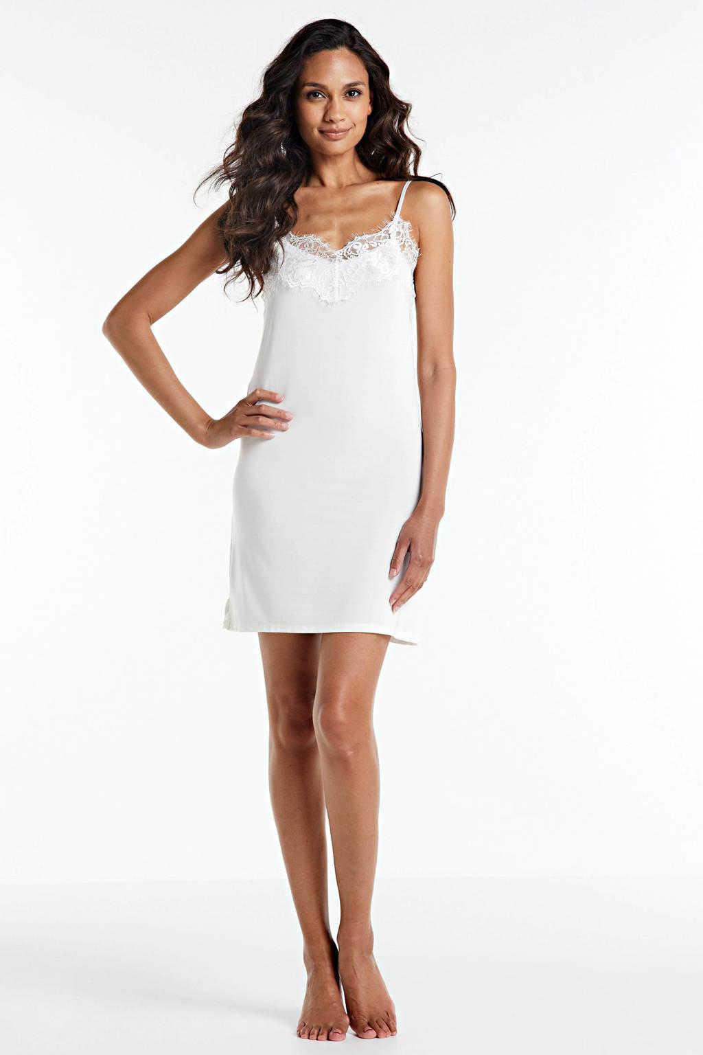 Soaked In Luxury onderjurk Clara met kant gebroken wit, Gebroken wit