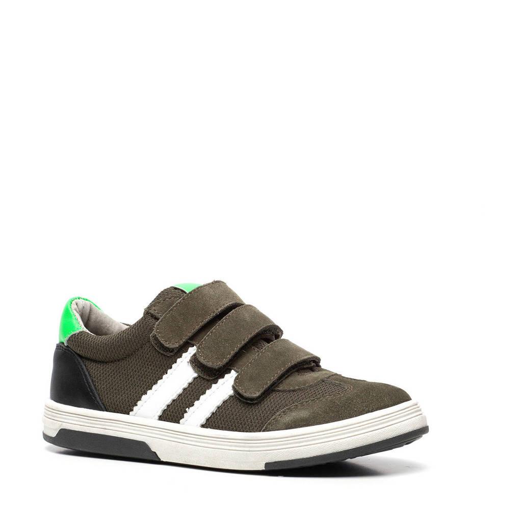 Scapino TwoDay   leren sneakers groen, Groen/wit