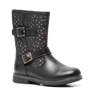 laarzen met glitters zwart