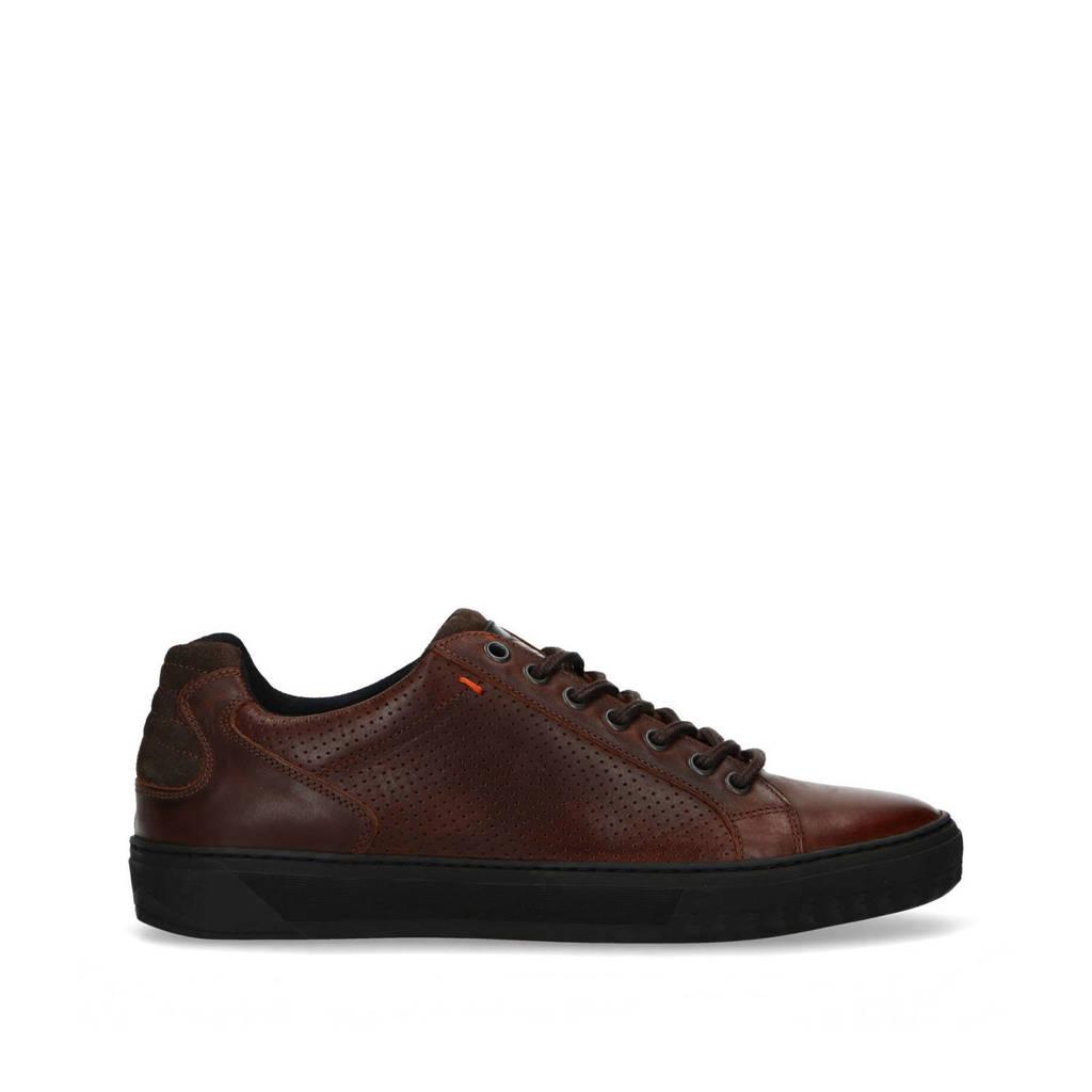 Sacha   leren sneakers bruin, Bruin