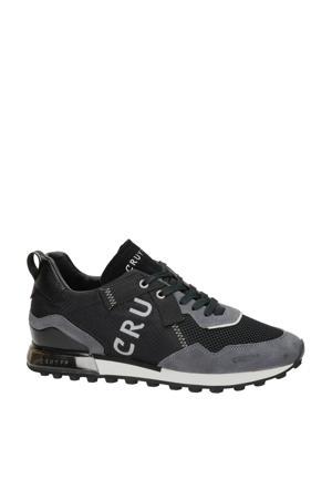 Superbia  suède sneakers zwart/grijs