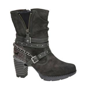 laarzen met sierbandjes grijs