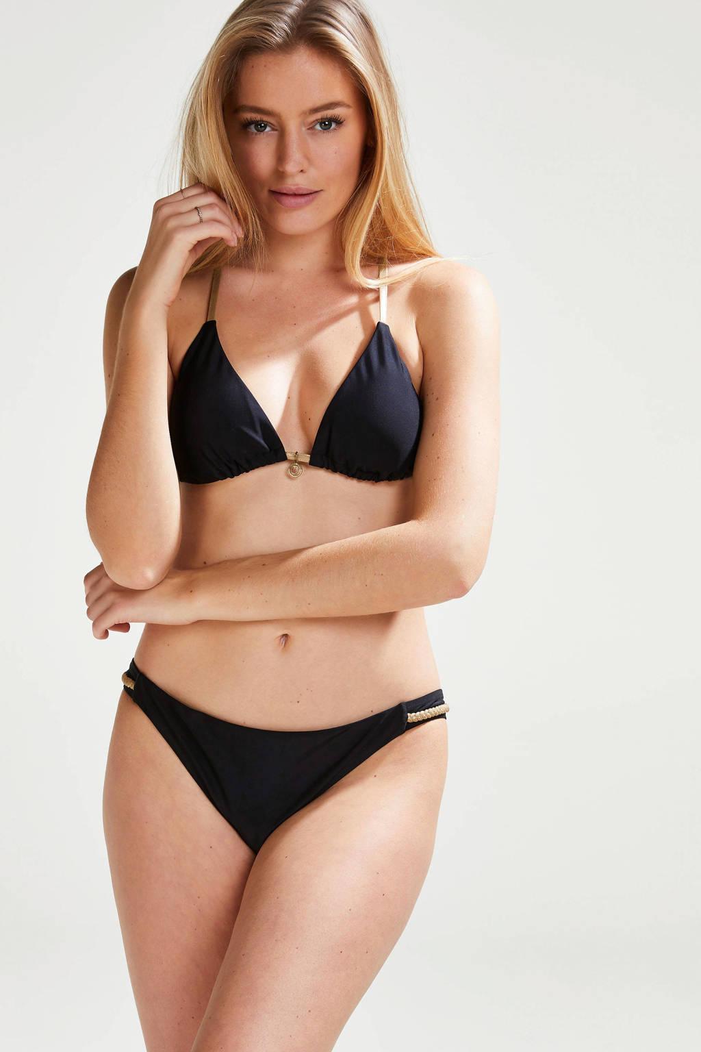 Hunkemöller by Doutzen triangel bikinitop Paradise zwart/goud, Zwart/goud